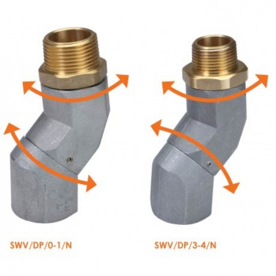 DUAL PLANE FUEL NOZZLE SWIVEL